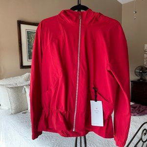 LULULEMON PACK IT UP JACKET HOODED RED NWT 10